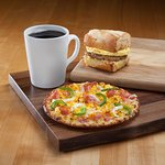 Breakfast all day! You've gotta try the breakfast pizzas—only at CMH!