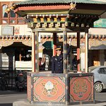 No traffic lights in the entire kingdom of Bhutan. The police direct traffic in Thimpu.