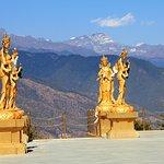 Statues around the Buddha Dordenma