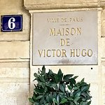 Victor Hugo lived at number 6 from 1832 - 1848