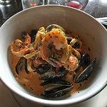Tagliatelle, Shrimp, Mussels & Tomato Vodka Sauce