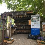 Honesty stall at Land Works produce and craft project.