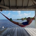 My hubby chilling on the hammock