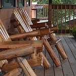 A chair to relax in overlooking Moose Lake.