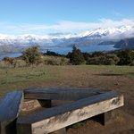 View of Lake Wanaka from top