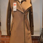 Cashmere and Leather 7/8th Belted Jacket