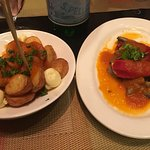 Patatas Bravas + Stuffed Piquillo Peppers (ok)