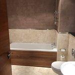 The lovely deep bath tub