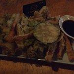 Prato Goku (legumes fritos com uma massa fininha, com molho maravilhoso)