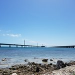 View of the old and new bridge, from Pigeon Key