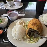 Fried Lau Lau Plate Special w/ Extra Rice & Chix Long Rice Side
