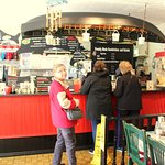 Orders are placed just steps into the restaurant which establishes the deli-like atmosphere.