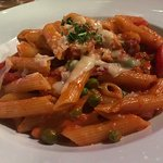 A snapshot of what may be the best penne vodka ever served — absolutely delicious