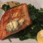 This salmon was absolutely perfectly cooked and very tasty; a great dinner choice