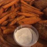 tenders and sweet potato fries