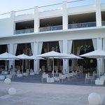 the resort's main bar at the main plaza
