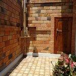 Outside shower in private garden
