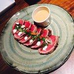Beef tataki for the starter
