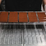 Our craft chocolate bars in the making