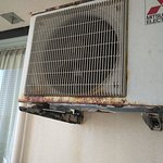Aircon outer unit completely rust