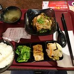 Bento style Taiwanese meal
