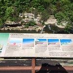 Upper Falls sign overlooking falls.