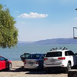 Parking along the lake