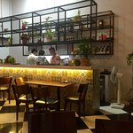 The cafe counter