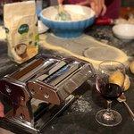 Making the ravioli filling