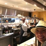 Chef with the Photo-Bomb at the Gordon Ramsey's Burger