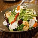 Chop Chop Salad with Grilled Prawns