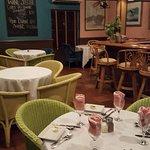 Inside dining area near the bar.