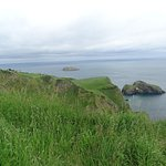 Distant shot of Carrick Island.