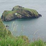 Distant shot of Carrick Island