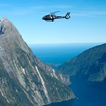 Eurocopter EC130 above Milford Sound