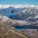 Flying high above Moke Lake