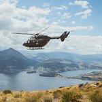 BK117 Overlooking Queenstown & Lake Wakatipu