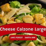 When you're in the mood for a salad, Cheese Calzone large are the feast you are looking for. Vis