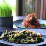 Water spinach with sambal