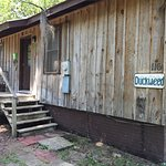 Front entrance to Duckweed Cabin