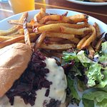8-ounce Wagyu Burger with truffle fries