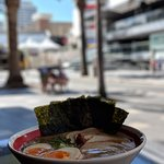Surf, sun and SLURP! (A nitamago chashumen with nori seaweed)