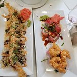 """Not on the menu"" shrimp dish on left"