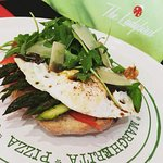 A Daily Special - Fresh Gozo Asparagus with Smoked Salmon, Egg and Fresh Salad
