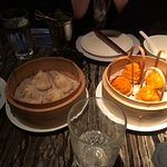 These are two of the dim sum dishes we ordered.