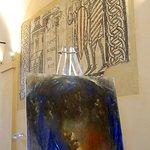 Duomo, mosaici e in primo piano tela di Gio Bonardi