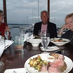 Which is better — the view, two lovely ladies, or the incredible prime rib? I'd go for the beef!