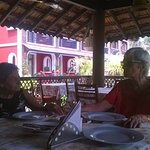 Dining al fresco (well, almost!) at their Goan inspired gazebo which is the restaurant.