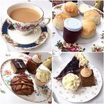 Selection of puds from afternoon tea