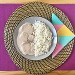MIX&MATCH : Rôti de porc aux amandes accompagné de son riz blanc